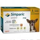 Anti Pulgas Zoetis Simparic 5 Mg para Cães 1,3 a 2,5 Kg